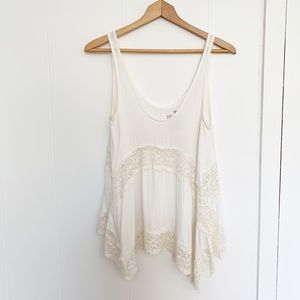 American Eagle Soft & Sexy off white lace tank XS